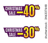 christmas sales tag or price... | Shutterstock .eps vector #346337648
