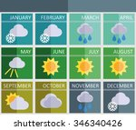 calendar of the times of year... | Shutterstock .eps vector #346340426