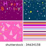 collection birthday cards | Shutterstock .eps vector #34634158
