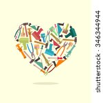 symbol of  heart of... | Shutterstock . vector #346344944