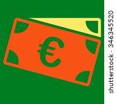 euro banknotes glyph icon.... | Shutterstock . vector #346345520