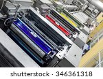 large printing machine... | Shutterstock . vector #346361318
