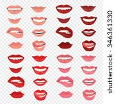 female lips with a smile. the...