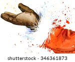 watercolor santa claus. santa... | Shutterstock . vector #346361873