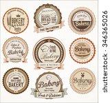 bakery retro vintage badges...   Shutterstock .eps vector #346365026