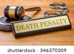 a gavel and a name plate with... | Shutterstock . vector #346370309