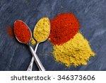 seasoning spice turmeric and... | Shutterstock . vector #346373606