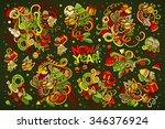 vector hand drawn doodle... | Shutterstock .eps vector #346376924