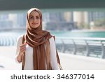 girl in hijab | Shutterstock . vector #346377014