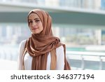 girl in hijab | Shutterstock . vector #346377194