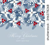 merry christmas and happy new... | Shutterstock .eps vector #346378268