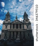 st. paul's cathedral  london. | Shutterstock . vector #346379510