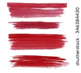 a set of red stripes on a white ...   Shutterstock . vector #346384430