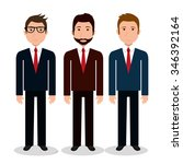 business people with icons... | Shutterstock .eps vector #346392164