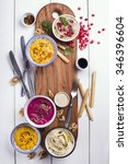 Variety Of Healthy Dips With...