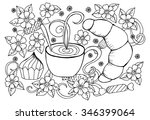 illustration with cup of coffee ...   Shutterstock .eps vector #346399064
