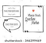 quotes templates   hand drawn... | Shutterstock .eps vector #346399469