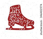 let's go skating typography.... | Shutterstock .eps vector #346402574