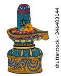 lingam shiva | Shutterstock .eps vector #346403144