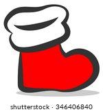 christmas stocking vector icon