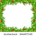 christmas background with... | Shutterstock .eps vector #346407140