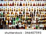 various alcohol bottles in a... | Shutterstock . vector #346407593