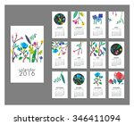 calendar 2016. templates with... | Shutterstock .eps vector #346411094