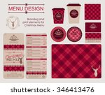 branding and print elements for ... | Shutterstock .eps vector #346413476