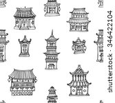 vector oriental seamless... | Shutterstock .eps vector #346422104