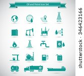 oil and petrol icon set | Shutterstock .eps vector #346423166