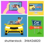 rent a cars and trading cars in ... | Shutterstock .eps vector #346426820