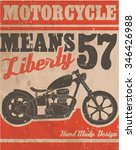 motorcycle vintage label  | Shutterstock .eps vector #346426988
