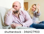 sad dissapointed husband... | Shutterstock . vector #346427903