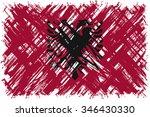 albanian grunge flag. vector... | Shutterstock .eps vector #346430330