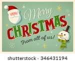 vintage style christmas card... | Shutterstock .eps vector #346431194