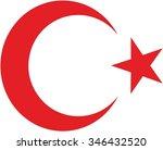 turkey coat of arm | Shutterstock .eps vector #346432520