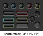 dark user interface vector... | Shutterstock .eps vector #346442444