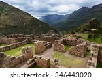 view of inca ruins near the... | Shutterstock . vector #346443020