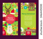 flyer template of merry... | Shutterstock .eps vector #346445030