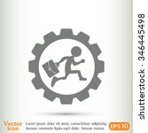 a man with a briefcase running... | Shutterstock .eps vector #346445498