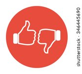 thumb up icon  flat design....   Shutterstock .eps vector #346445690