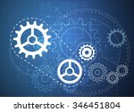 technical drawing abstract  ... | Shutterstock .eps vector #346451804