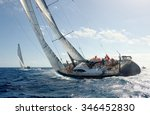 sailing yacht race. yachting.... | Shutterstock . vector #346452830