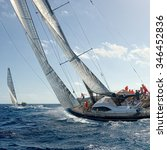 sailing yacht race. yachting.... | Shutterstock . vector #346452836