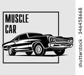 muscle car poster background... | Shutterstock .eps vector #346458668