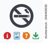 no smoking sign icon. cigarette ...   Shutterstock . vector #346460030
