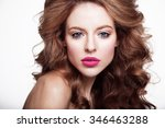 closeup portrait of sexy young... | Shutterstock . vector #346463288