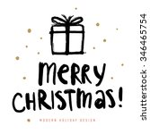 christmas greeting card with... | Shutterstock .eps vector #346465754