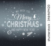 christmas and new year... | Shutterstock .eps vector #346469420