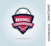 baseball badge sport logo team... | Shutterstock .eps vector #346473440